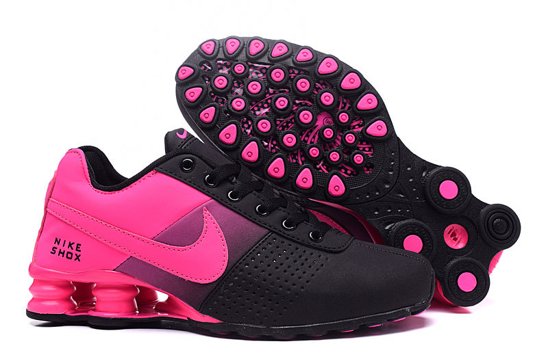 NEW WOMEN NIKE SHOX DELIVER GS BLACK PINK SHOES